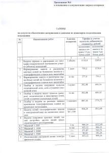 Приложение к документации запроса котировок - обоснование