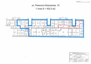 Приложение №7 - План (Р-Корсакова, 10, 420,2 м2)