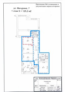 Приложение №6 к документации запроса котировок - План помещения Мичурина, 7